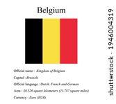 belgium national flag  country...   Shutterstock .eps vector #1946004319