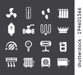 set icons of heating isolated... | Shutterstock .eps vector #194601566