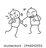 street fight doodle  a hand... | Shutterstock .eps vector #1946042053