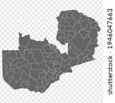 blank map  of zambia. districts ...