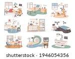 medical center isolated scenes...   Shutterstock .eps vector #1946054356