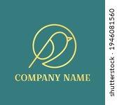 bird luxury logo with mono line ...   Shutterstock .eps vector #1946081560
