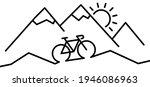 racing bike or mountain biker.... | Shutterstock .eps vector #1946086963