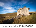 Old Stone Farmhouse With Green...