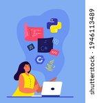 woman developer programmer... | Shutterstock .eps vector #1946113489