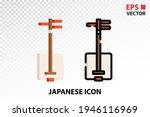 shamisen icon on transparent...