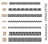 set of ancient greek seamless...   Shutterstock .eps vector #1946119720