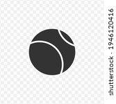 transparent tennis ball icon...
