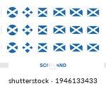 scotland flag set  simple flags ...   Shutterstock .eps vector #1946133433