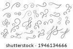 swirl ornament stroke hand... | Shutterstock .eps vector #1946134666