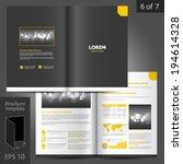 classic vector brochure... | Shutterstock .eps vector #194614328