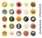 set of flat food icons....   Shutterstock .eps vector #194616224