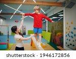 Kids Doing Balance Beam...