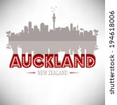 auckland new zealand skyline... | Shutterstock .eps vector #194618006