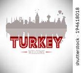 turkey skyline silhouette... | Shutterstock .eps vector #194618018
