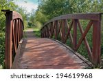 Small photo of wood bridge over the river Solia in Cantabria, Spain