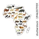 continent map of africa vector... | Shutterstock .eps vector #1946207959
