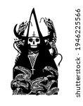 tarot card skull death with...   Shutterstock .eps vector #1946225566