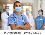 confident multiethnic male... | Shutterstock . vector #1946243179