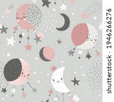 space dreams childish cute... | Shutterstock .eps vector #1946266276