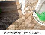 Small photo of Greyed Bangkirai wood on a terrace