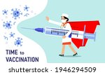 people vaccination concept for...   Shutterstock .eps vector #1946294509