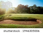 Golf Course For Golfer Playing...