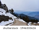 Mountain Trail Path With Snow...