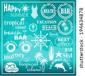 beach icons  elements. vector | Shutterstock .eps vector #194634878