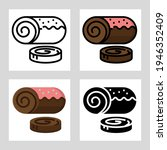 Roll Cake Icon Vector Design In ...