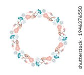 summer wreath with flowers in... | Shutterstock .eps vector #1946376550