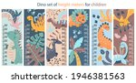 set of six colorful cute height ...   Shutterstock .eps vector #1946381563