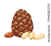 pine nuts with leafs.... | Shutterstock .eps vector #1946382253
