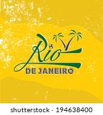 Vintage Illustration Of Rio De...
