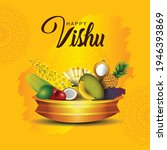 happy vishu greetings. april 14 ... | Shutterstock .eps vector #1946393869