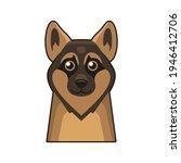 cute dog face icon. cartoon... | Shutterstock .eps vector #1946412706