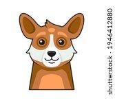 cute dog face icon. cartoon... | Shutterstock .eps vector #1946412880