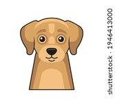 cute dog face icon. cartoon... | Shutterstock .eps vector #1946413000