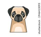 cute dog face icon. cartoon... | Shutterstock .eps vector #1946413093