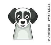cute dog face icon. cartoon... | Shutterstock .eps vector #1946413186