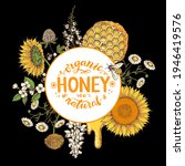 honey hand drawn vector... | Shutterstock .eps vector #1946419576