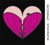 corset heart with lacing icon.... | Shutterstock .eps vector #194642144