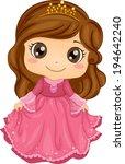 illustration of a cute little... | Shutterstock .eps vector #194642240