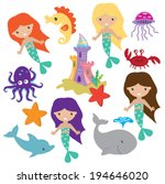 Mermaids Vector Illustration