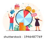 lucky people winning prize draw ... | Shutterstock .eps vector #1946487769