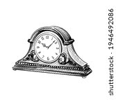 hand drawn sketch of mantel ...   Shutterstock .eps vector #1946492086
