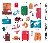 travel stuff. cartoon luggage ...   Shutterstock .eps vector #1946504686