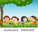 illustration of the happy kids...   Shutterstock .eps vector #194652653