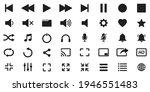media player icon set ... | Shutterstock .eps vector #1946551483