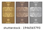 silver and gold vintage set of... | Shutterstock .eps vector #1946565793